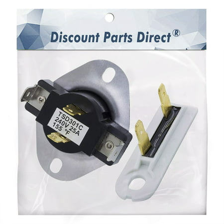 3387134 & 3392519 Combo Pack Kit Dryer Cycling Thermostat & Thermal Fuse, Replacement part for Whirlpool Kenmore  - Replaces 306910, 3387135, WP3387134VP & 3388651, 3392519, 694511, 80005, WP3392519VP