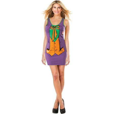 Womens  Batman Joker Tank Dress With Cape Costume