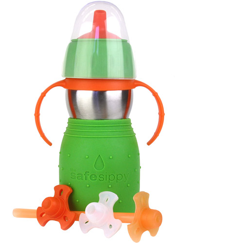 The Safe Sippy 2 2-in-1 Sippy Cup to Straw Bottle Stainless Steel by The Safe Sippy