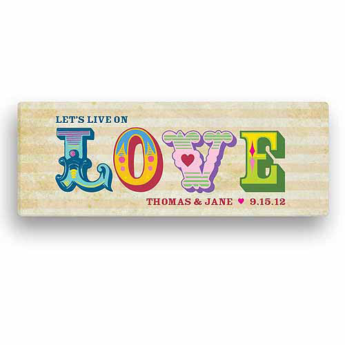 Carnival Love Personalized Canvas
