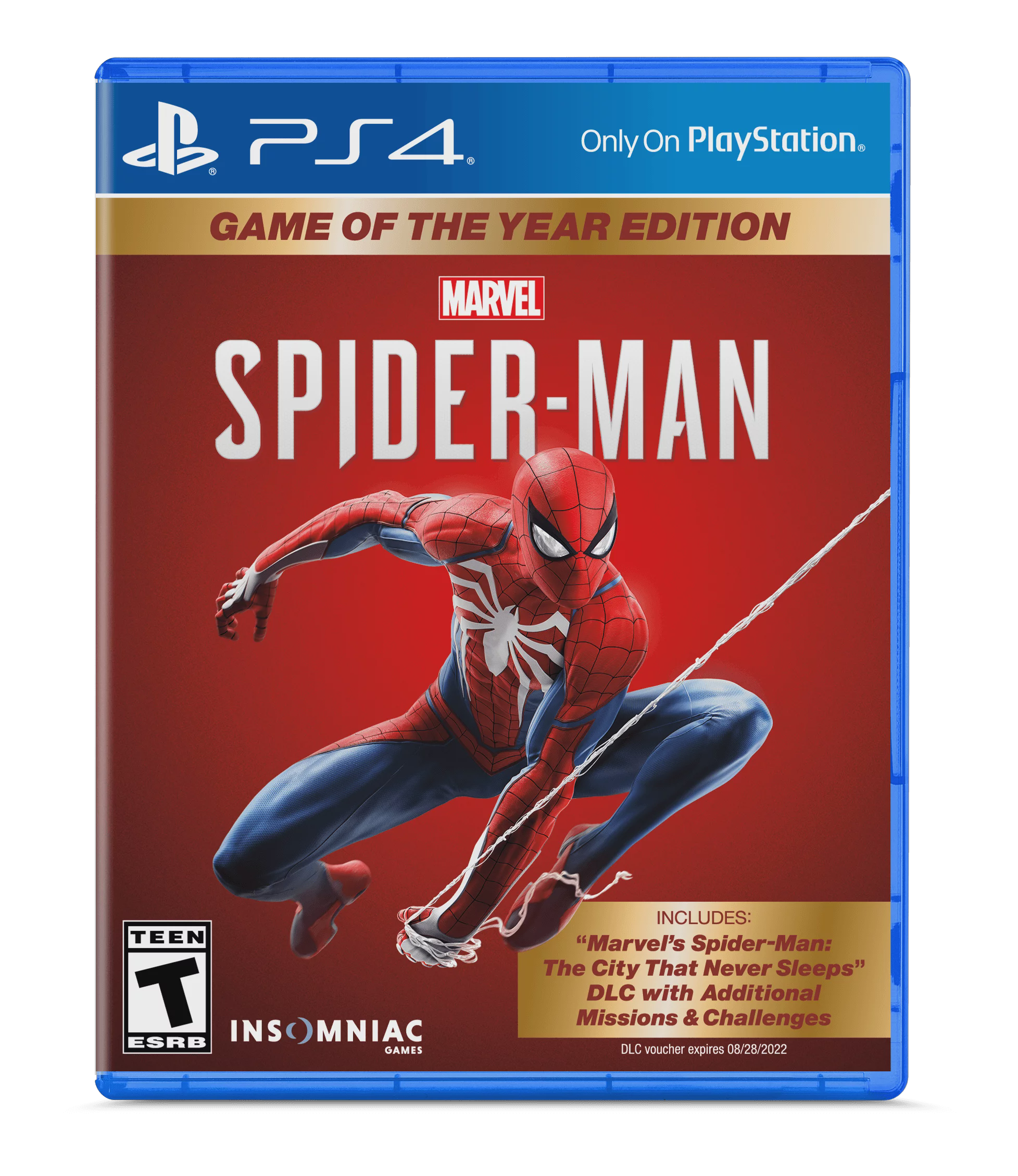 Marvel S Spider Man Game Of The Year Edition Sony Playstation 4 711719529958 Walmart Com Walmart Com