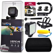 GoPro Hero 4 HERO4 Session CHDHS-101 with 64GB Ultra Memory + Premium Case + Opteka X-Grip + Selfie Stick + Chest Harness Strap + LED Night Light + Floaty Bobber & More