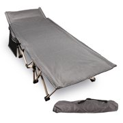 REDCAMP Folding Camping Cots for Adults 500lbs, Double Layer Oxford Strong Heavy Duty Wide Sleeping Cots for Camp Office Use