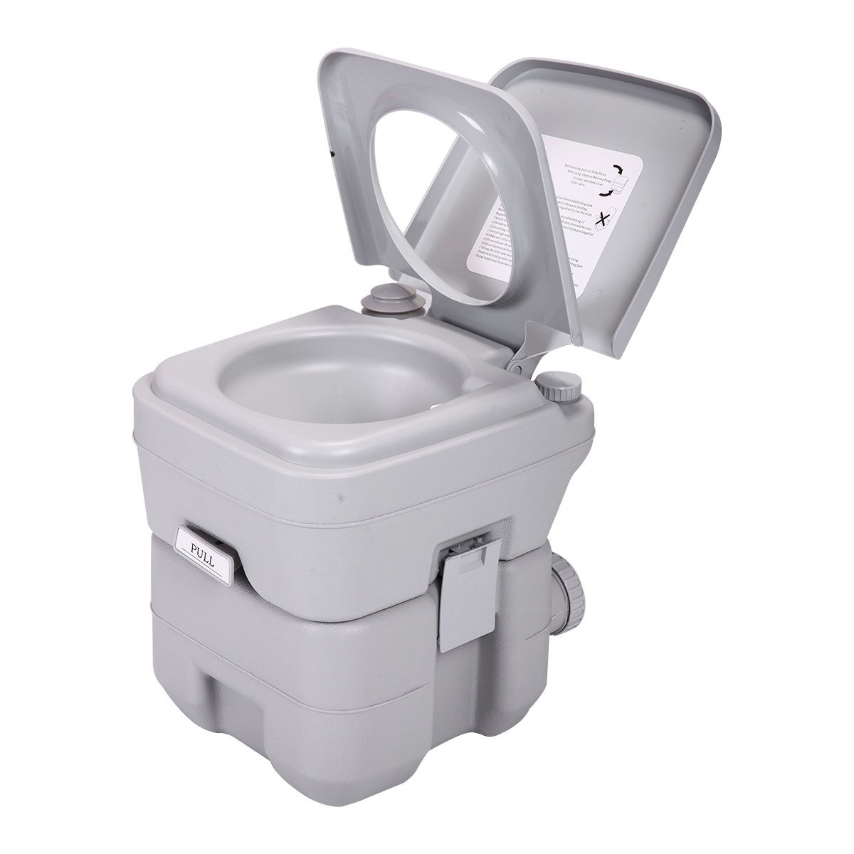 20L PORTABLE CARAVAN MOTORHOME CAMPING TOILET with FULL SIZE SEAT CARRY HANDLES