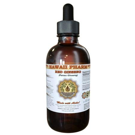 Red Ginseng (Panax Ginseng) Tincture, Organic Dried Root Liquid Extract, Ren Shen, Herbal Supplement 2 oz