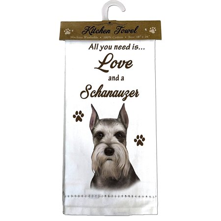 Crop Lines (E&S Pets 700-34 Schnauzer, Cropped Kitchen Towel, Off-white)