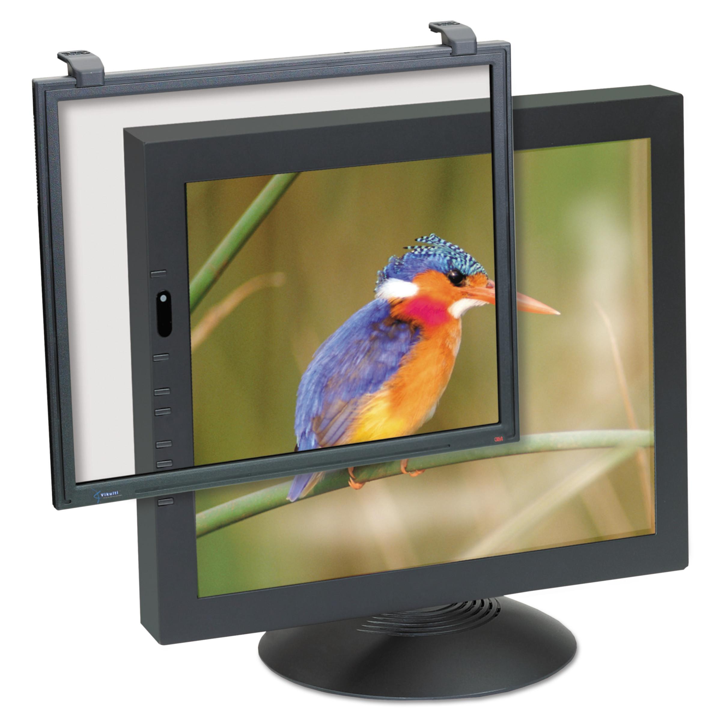 "3M Antiglare Executive Flat Frame Monitor Filter, 19""-21"" CRT/19""-20"" LCD"