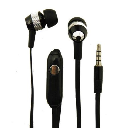 Super Bass Noise-Isolation Stereo Earbuds/ Earphones for Panasonic Eluga I7,Ray 550, I9, C, I5, A4, P101, P100, P91 (Black) - w/ Mic + MND Stylus Black Super Bass Earbuds