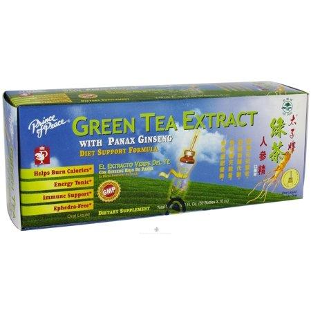 Prince Of Peace - extrait de thé vert avec le régime Panax Ginseng Support Formula - 30 Vial (s)
