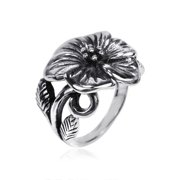 Aeravida Handmade Exotic Flower Sterling Silver Floral Style Ring (Thailand)