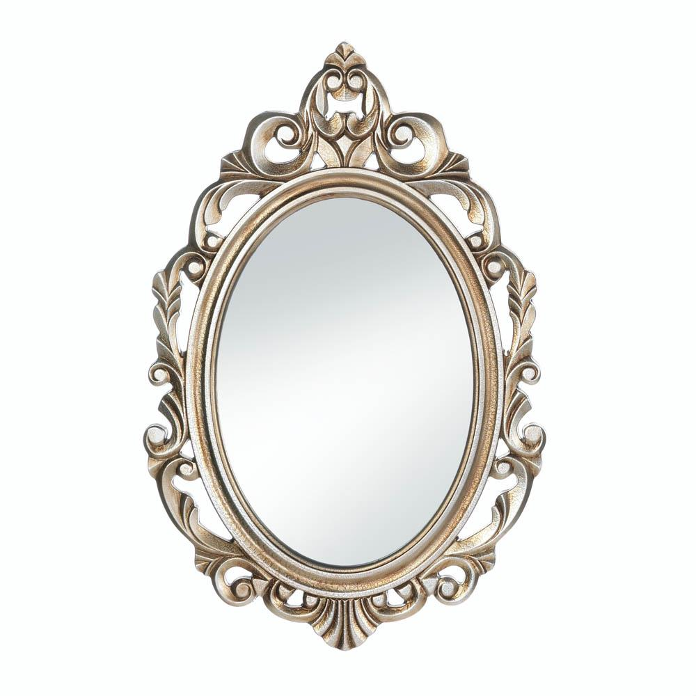 Oval Wall Mirror, Framed Decorative Mirrors Wall Decor Art For Living Room