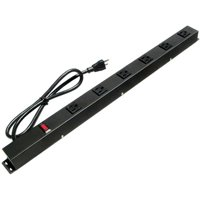 E-dustry EPS-2063V1 24 inch 6 Outlet Metal Power Strip