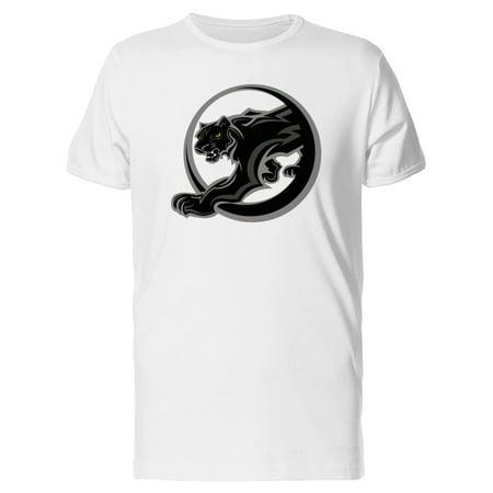 Black Panther Mascot, Grunge Tee Men's -Image by - Panther Mascot