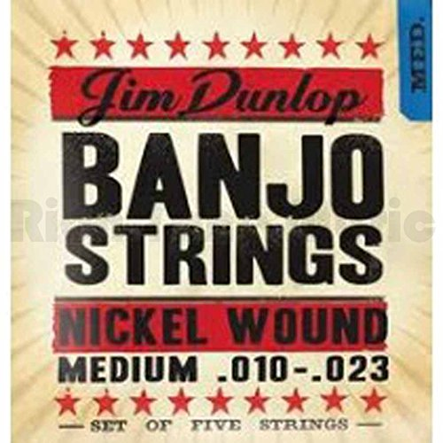 Dunlop - DJN1023 - Banjo Nickel String Medium - .010-.023 - Set of 5