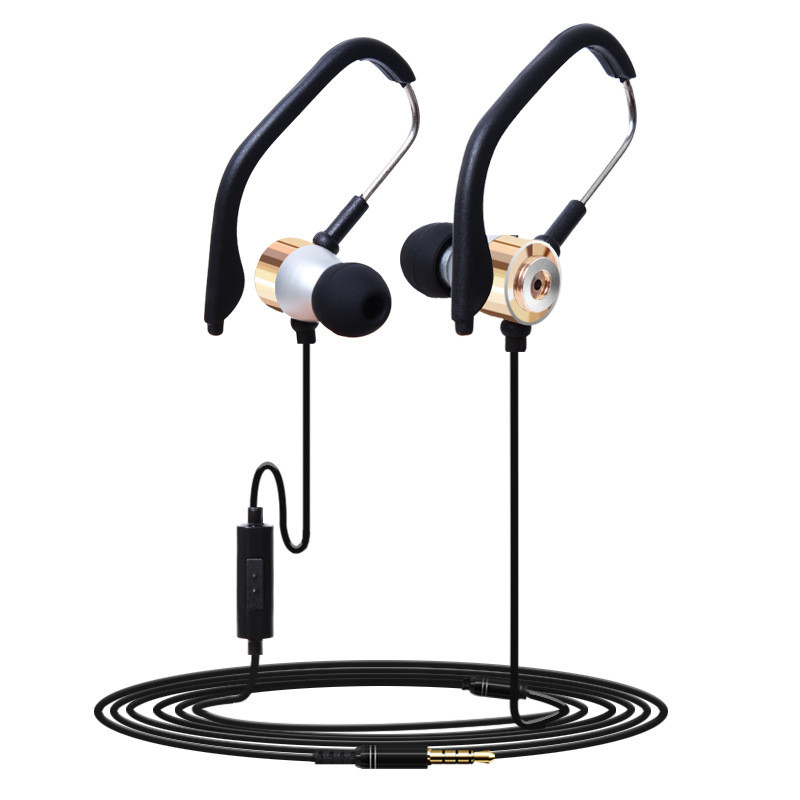 Hight Quality 3.5mm In Ear Clip On Sport W/ Mic Stereo Earphone Jogging Headphone GB