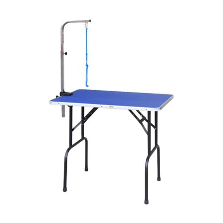 Go Pet Club Pet Dog Grooming Table With Arm   Steel