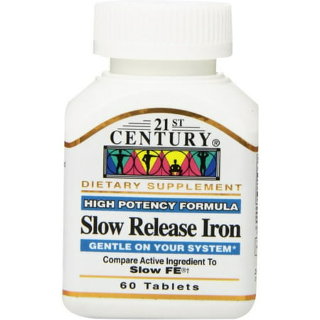 21st Century  Slow Release Iron Tablets 60 ea (Pack of