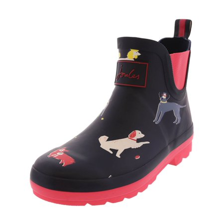 Joules Wellibob Navy Sunday Best Dog High-Top Rain Boot -