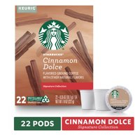 Starbucks Blonde Roast K-Cup Coffee Pods  Cinnamon Dolce for Keurig Brewers  1 box (22 pods)