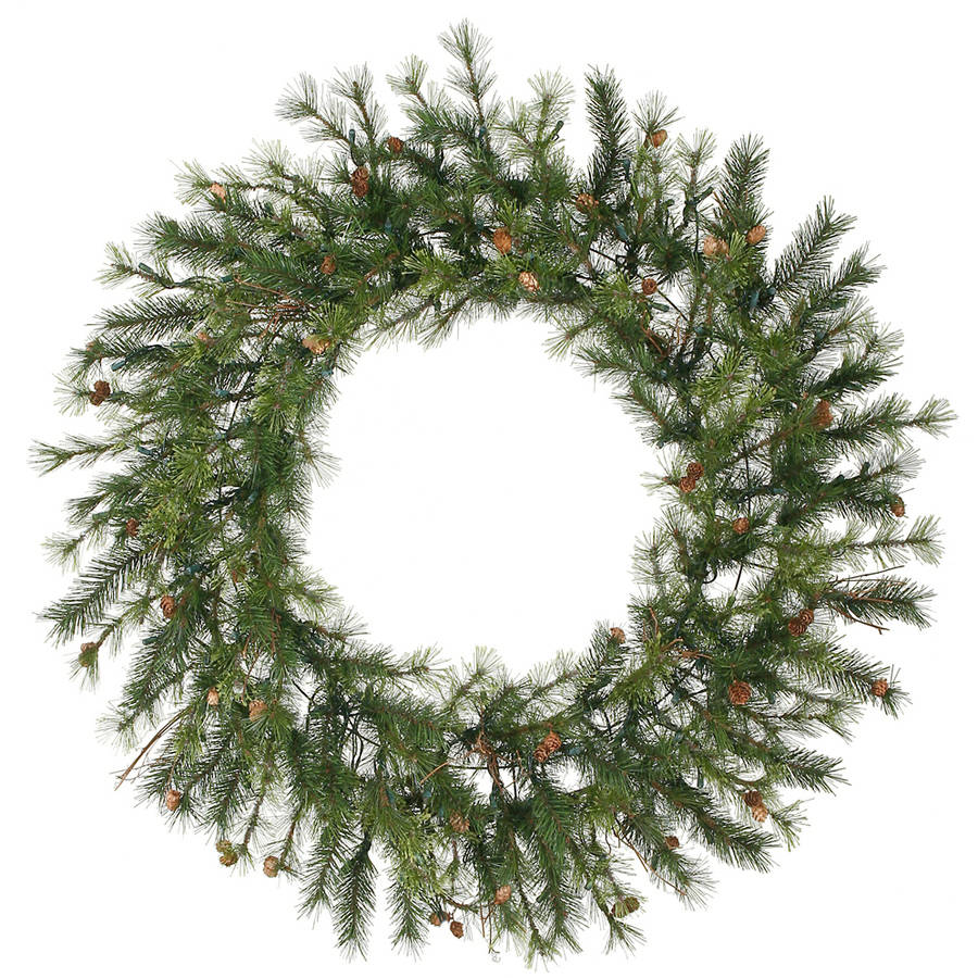 """Vickerman 48"""" Mixed Country Pine Artificial Christmas Wreath, Unlit"""
