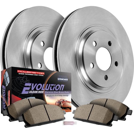 Maxima Brake - Power Stop Front & Rear Brake Pad and Rotor Kit Nissan Maxima KOE2704