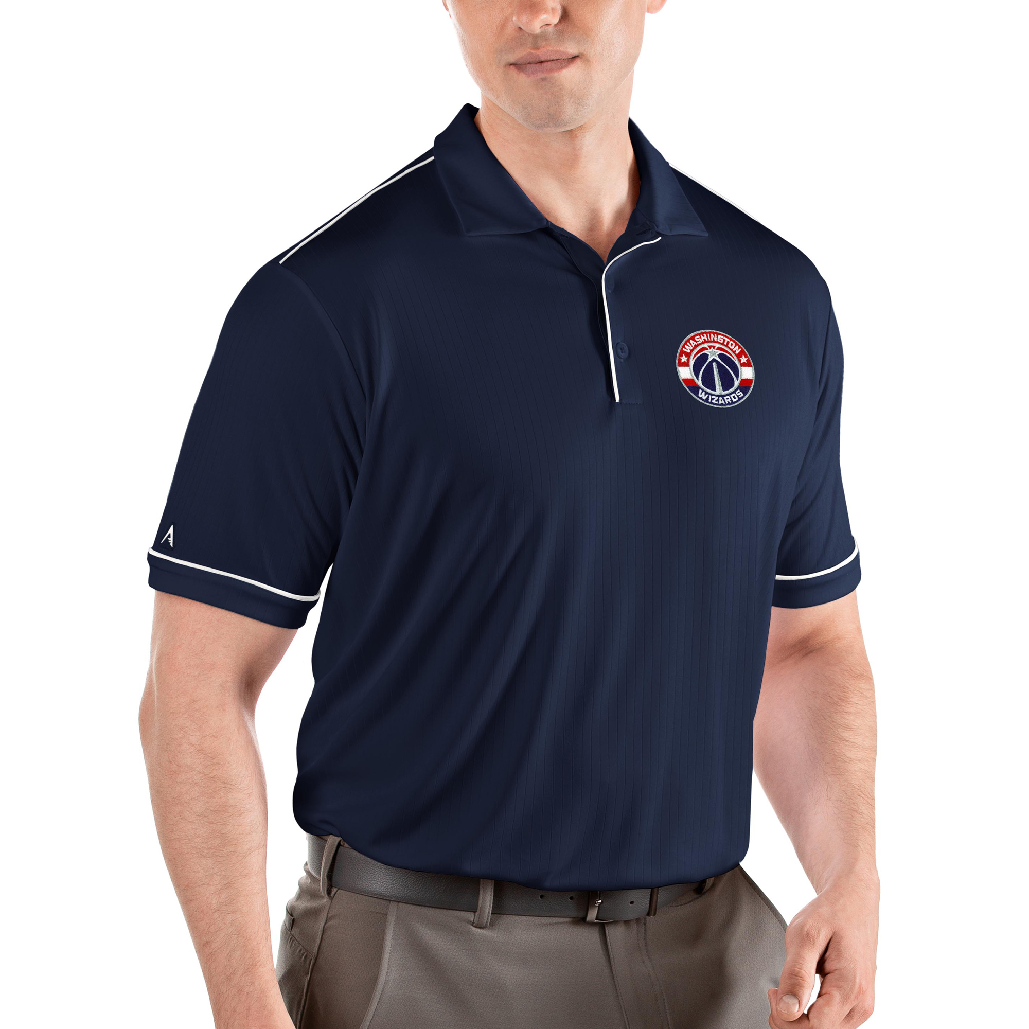 Washington Wizards Antigua Salute Polo - Navy/White