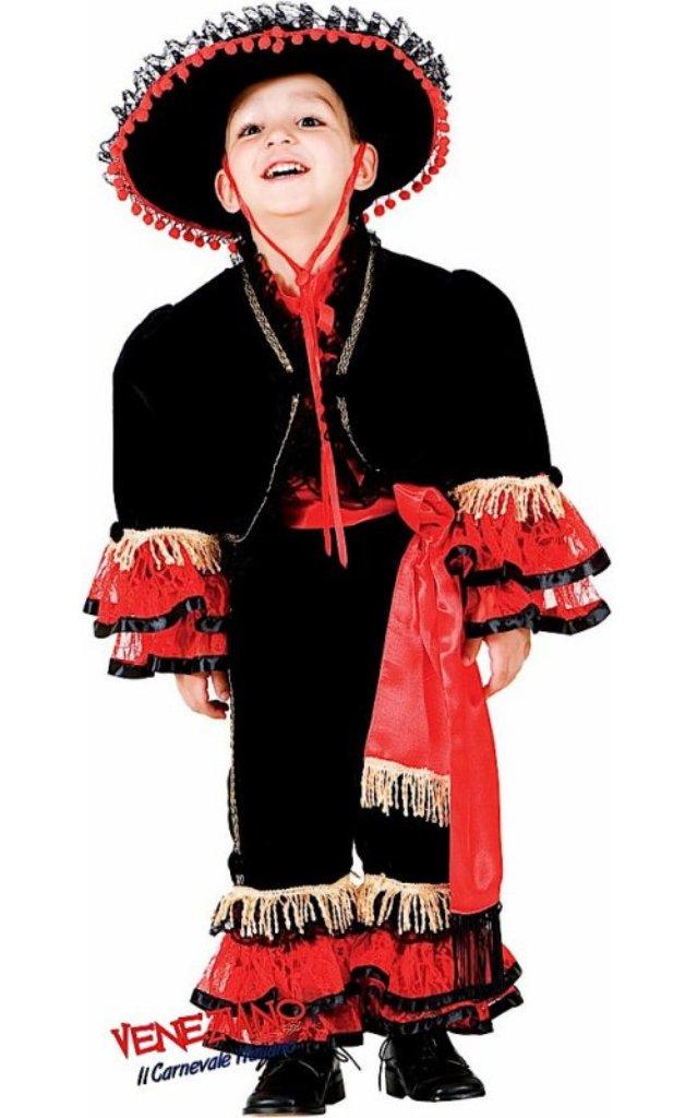 Veneziano Deluxe Spanish Flamenco Dancer Costume Child Boys Medium 8