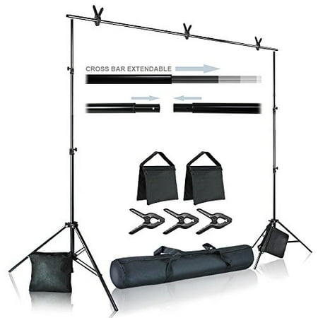 julius studio photo video studio 10.3 ft. wide cross bar 7.5 ft. tall background stand backdrop support system kit with carry bag, photography studio, jsag283