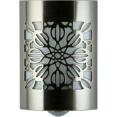 Ariel Night Light (GE CoverLite LED Plug-In Night Light, Floral Design, Brushed Nickel, 29845 )