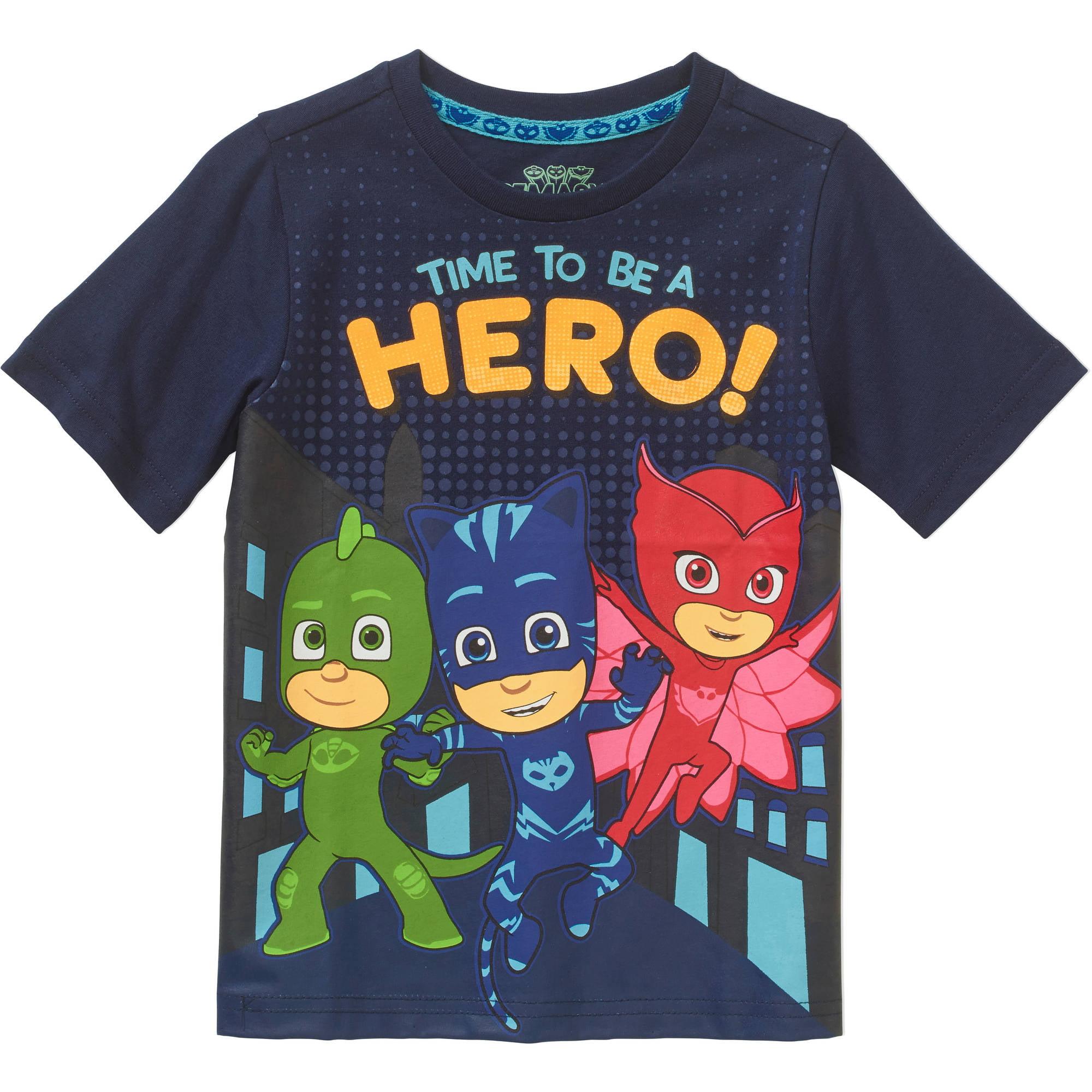 0681b319d PJ Masks - Toddler Boys' Short Sleeve Hero T-Shirt - Walmart.com