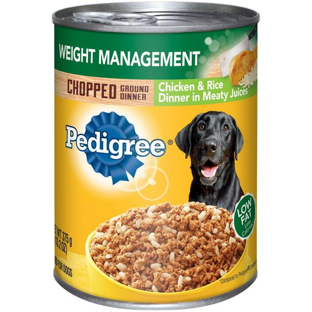 Pedigree Weight Management Chicken Rice Wet Dog Food 13 2 Oz