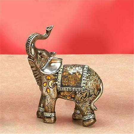 Unison Gifts LKB-205 6 In. Bejeweled Mosaic Elephant Facing Right
