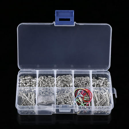 Yosoo Jewelry Making Kits Set Head Pins Chain Beads Craft Accessories With Box,Jewelry Findings, Craft Making Supplies (Jewelry Making Supplies Head Pins)