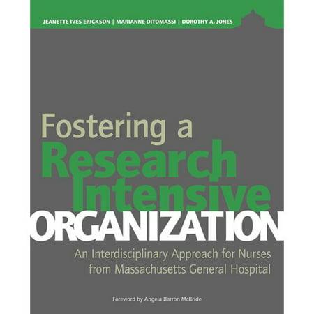 Fostering A Research Intensive Organization  An Interdisciplinary Approach For Nurses From Massachusetts General Hospital