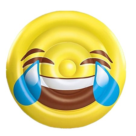 BH Inflatables: Giant Emoji Tears of Joy Inflatable Pool Float Raft, 5