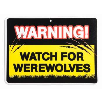 Warning Sign Halloween (WARNING SIGN-WATCH OUT VAMPIRE 12)
