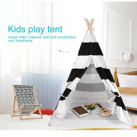 YMIKO Portable Kids Teepee Outdoor Play House 120*120*145cm Children Game Playhouse Tent