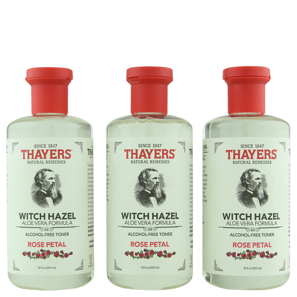 Thayer's Alcohol-Free Rose Petal Witch Hazel Toner 3 ct 12 oz