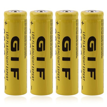 Best 4pcs 18650 3.7V 9800mAh Rechargeable Li-ion Battery + Charger Yellow deal