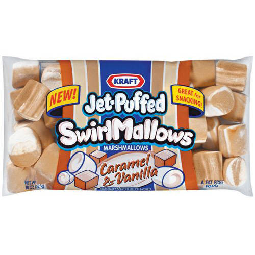 Jet-Puffed Swirl Mallows Caramel & Vanilla Marshmallows, 10 oz