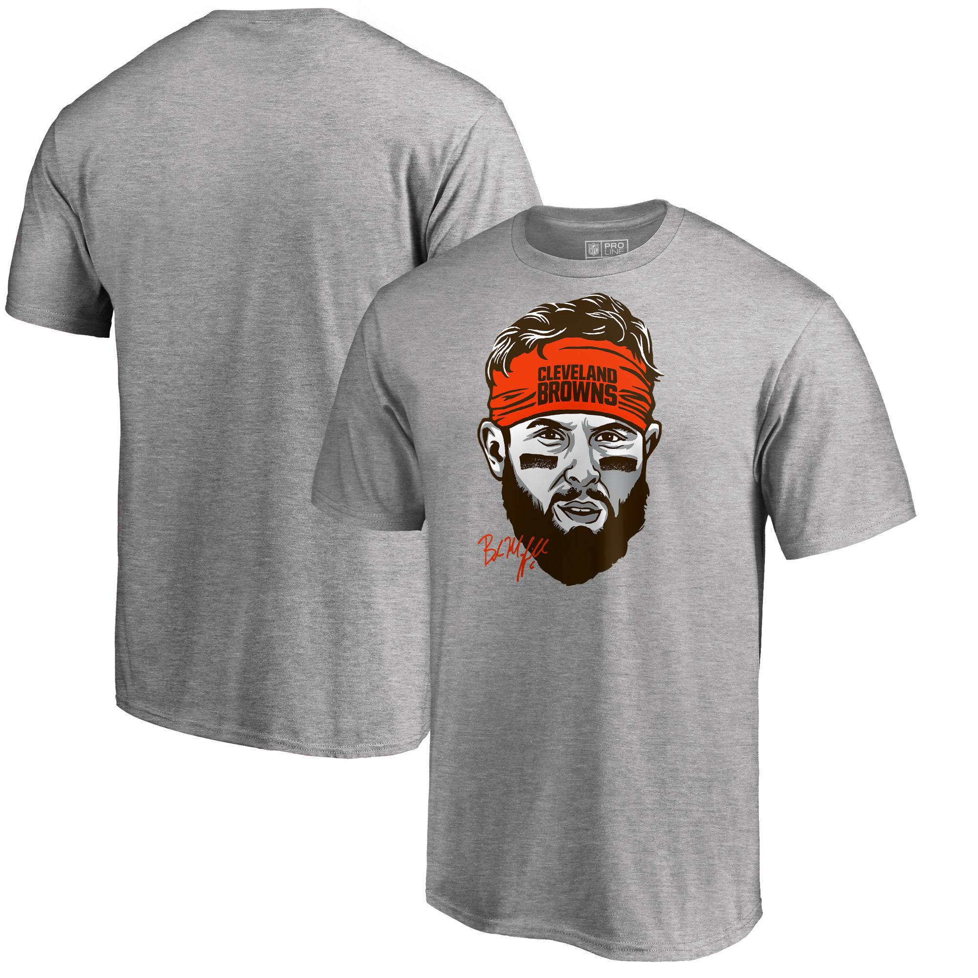 Baker Mayfield Cleveland Browns NFL Pro Line by Fanatics Branded Baker Mayfield Headband T-Shirt - Heather Gray