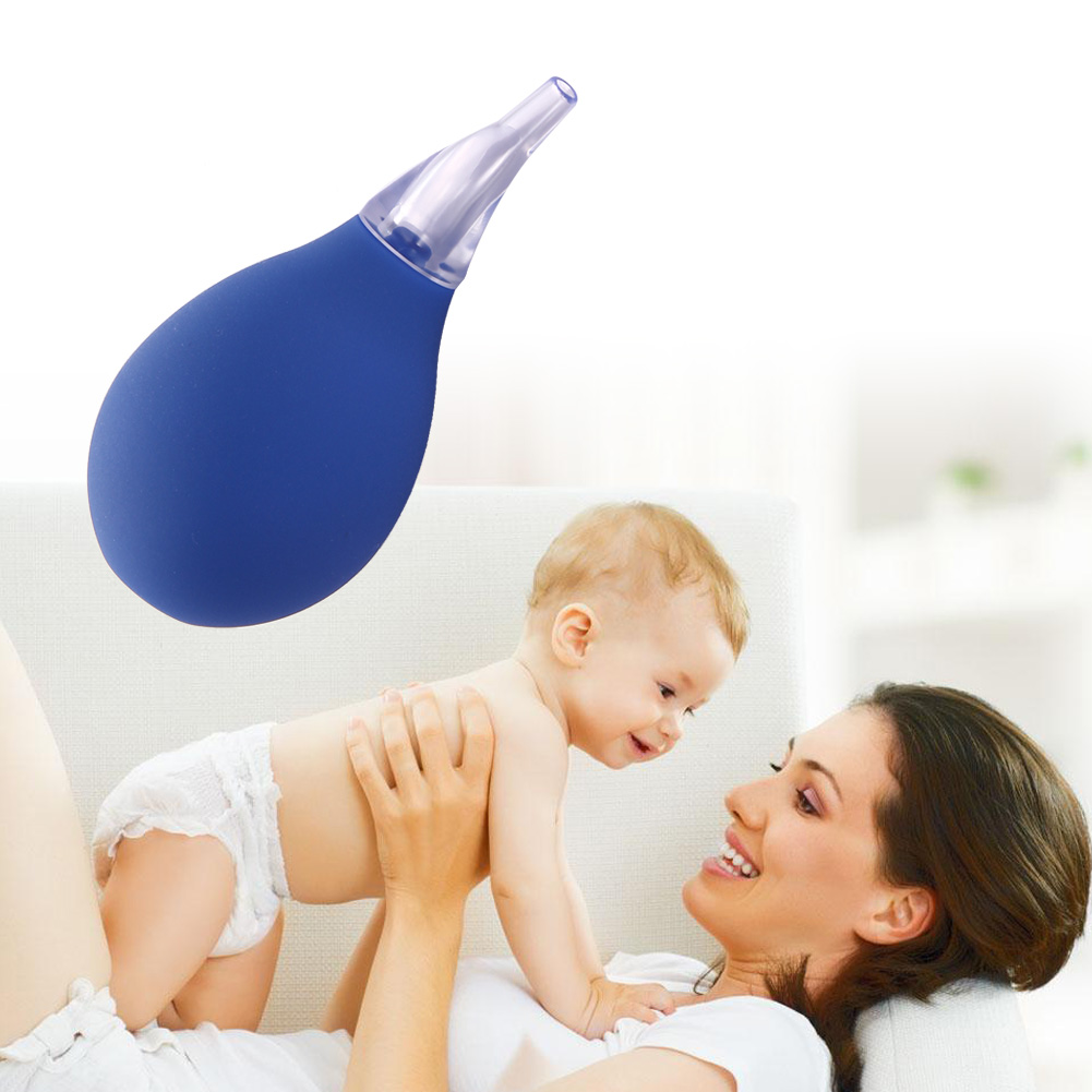 Baby Newborns Nasal Vacuum Suction Soft Tip Mucus Aspirator Runny Nose Cleaner (Blue)