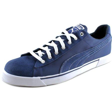 c46613142d7f5c PUMA - Puma Benny Breaker Men Round Toe Suede Blue Sneakers - Walmart.com