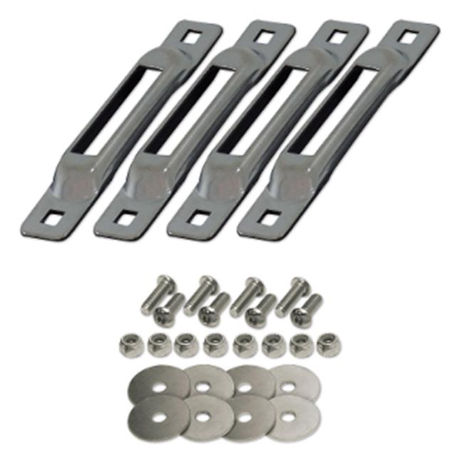 """SNAPLOCS"" ZINC 4 PACK w/FASTENERS E-Track Single strap anchors"
