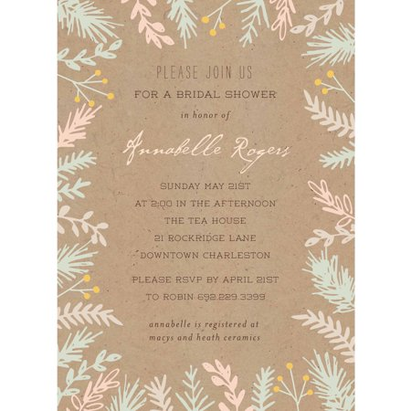 Bride botanical standard bridal shower invitation for Walmart wedding shower invitations