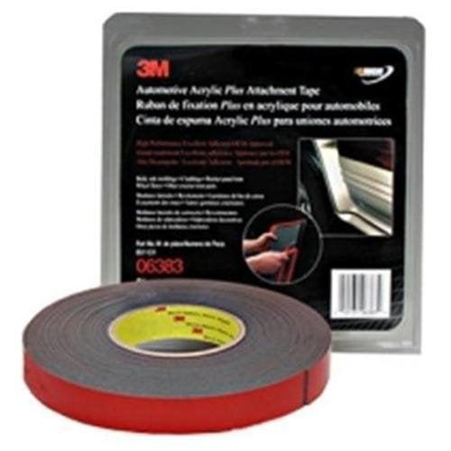 """3m 06383 Automotive Acrylic Plus Attachment Tape, Black, 7/8"""" X 20 Yds."""