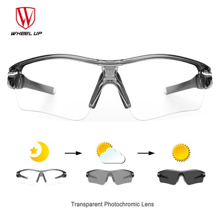 WHEEL UP Photochromic Sunglasses Cycling Eyewear Sports Mountain Road Bicycle Men Women Eyewear with 3 Lens (Road Bike Sunglasses)
