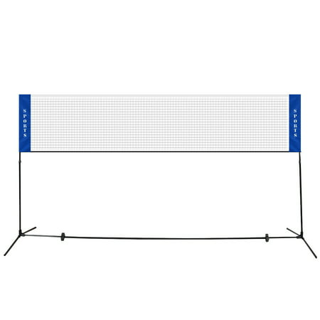 Costway Portable 10'x5' Badminton Beach Volleyball Tennis Training Net w/ Carrying