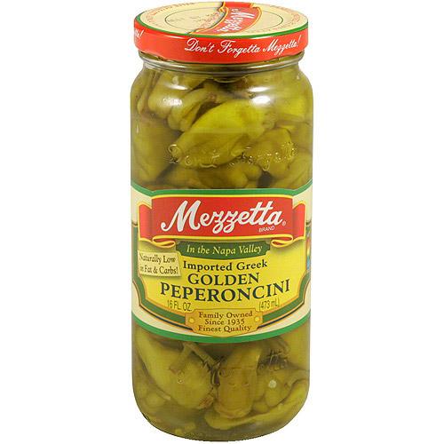 Mezzetta Imported Golden Greek Peperoncini, 16 oz (Pack of 6)