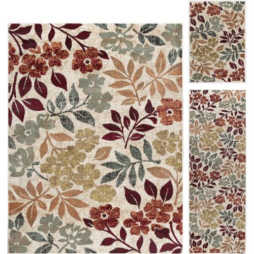 Red Barrel Studio Highfill Transitional 3 Piece Cream Area Rug Set